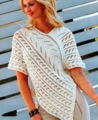Poncho Tunic in Lace Pattern
