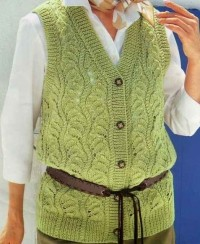 Vest in Lace Pattern