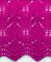 Wavy Knit Stitch Pattern